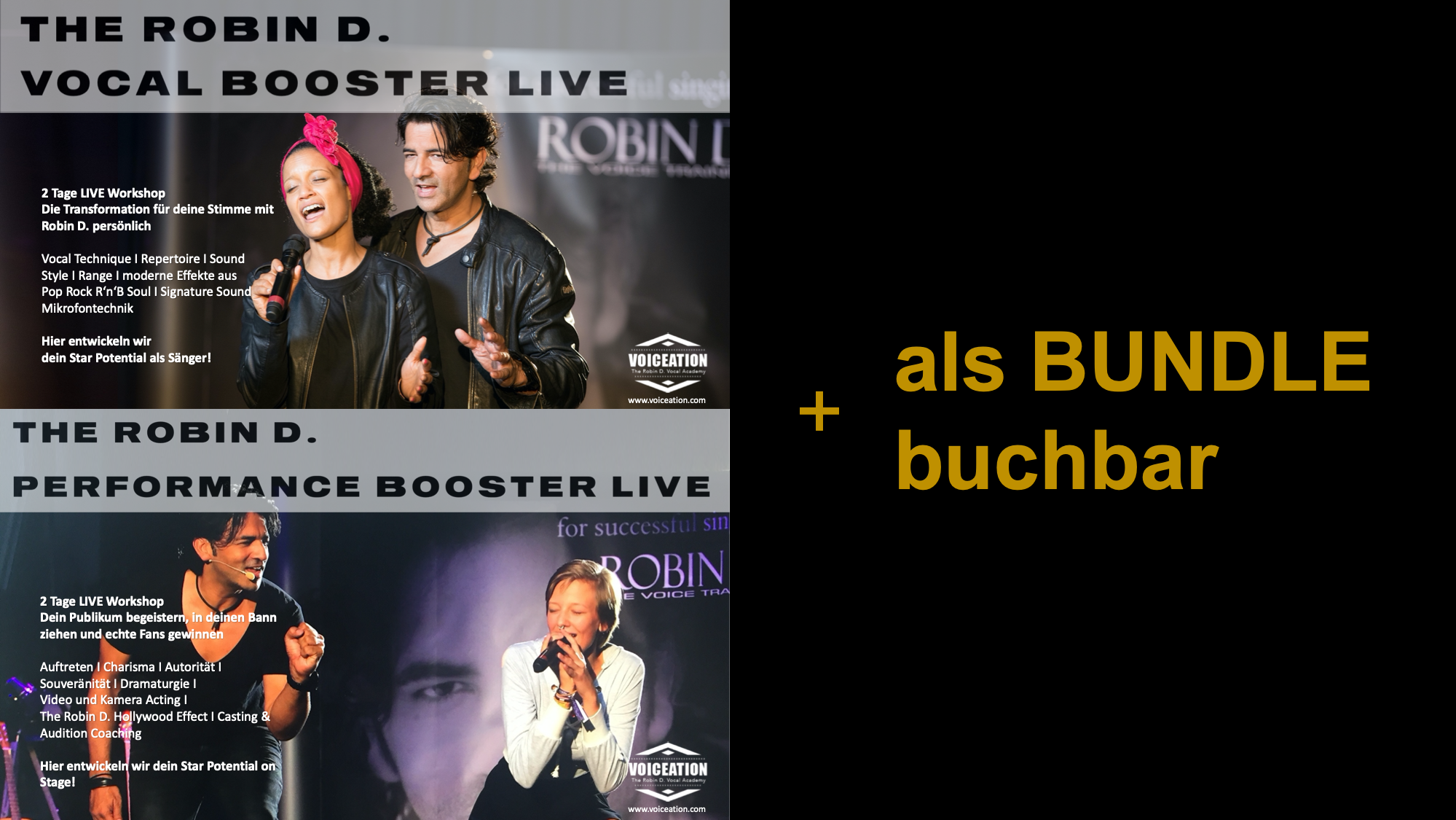 Vocal und Performance Poster Live