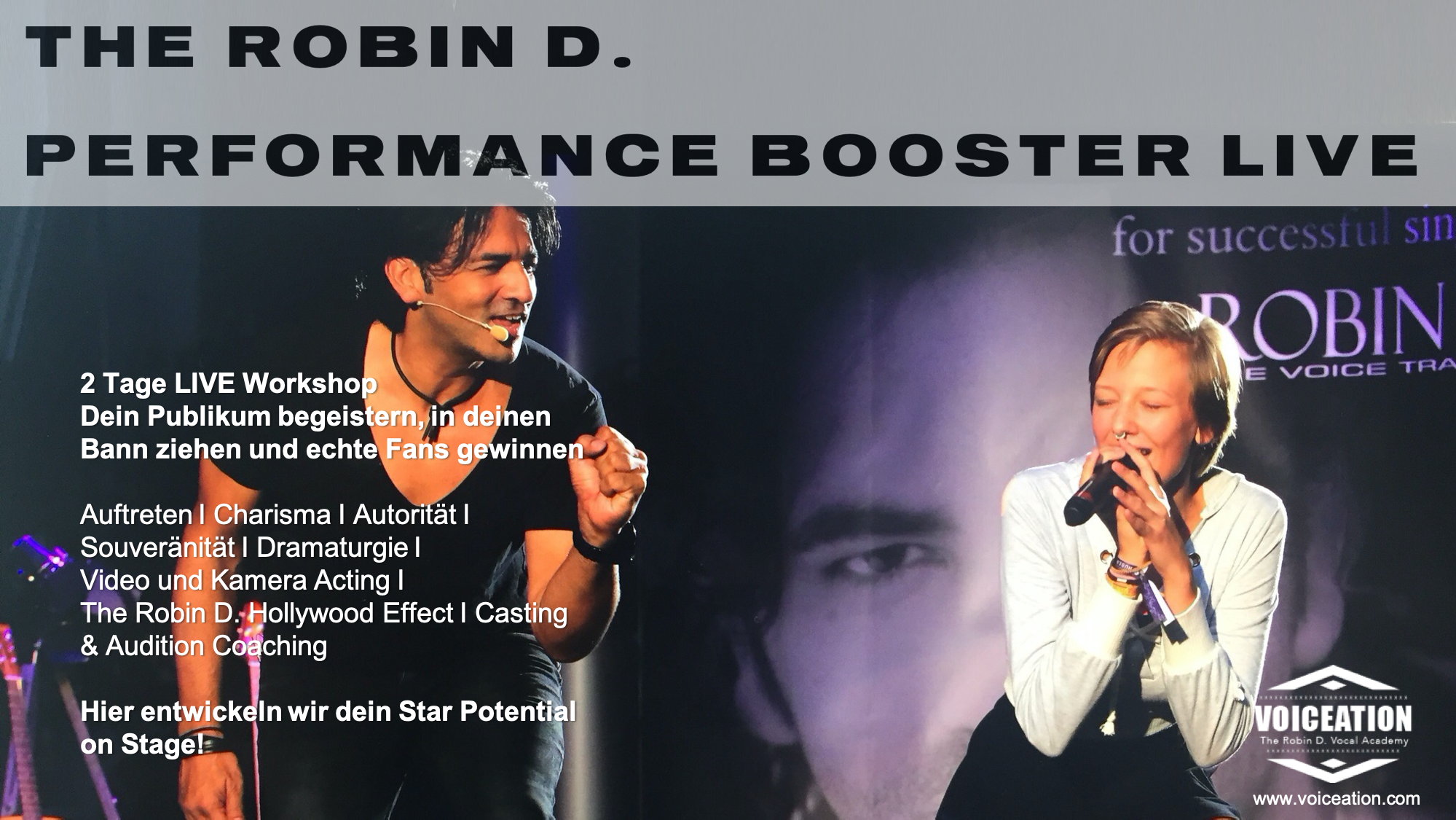 The Robin D. Performance Booster LIVE